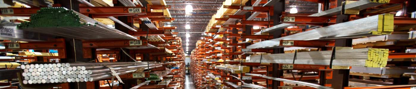 Ryerson warehouse with aluminum inventory